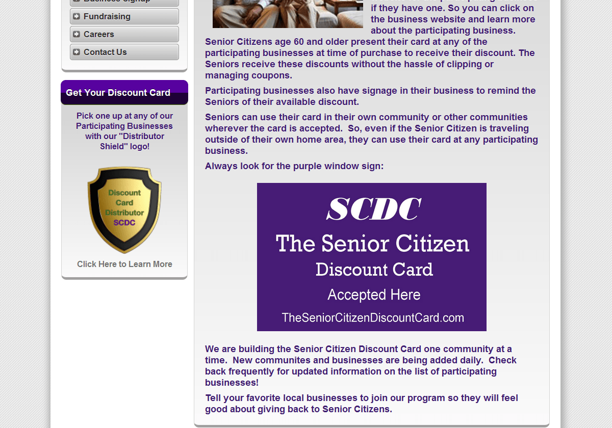 Discount Card Business Directory Website Design - Online Marketing ...